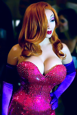 Yaya Han in 'Sexy Jessica Rabbit Costume' via Comic Con