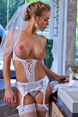 Nicole Aniston in 'Busty Bride' via Naughty America